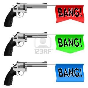 14657604-las-armas-con-banderas-bang-ilustracion-sobre-fondo-blanco